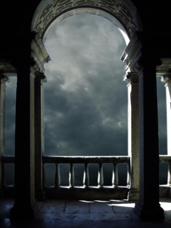Blue Balcony I by Kittyd-Stock