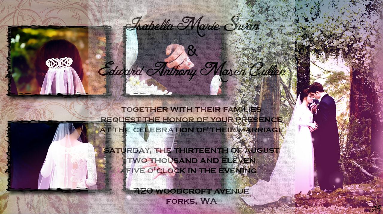 Bella S And Edward S Wedding Invitation By Silentstorm89 On Deviantart