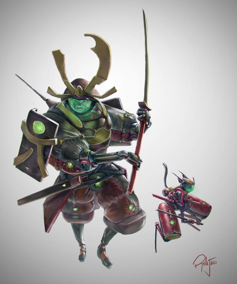 Space Samurai Tadashi Jones by Relajavo