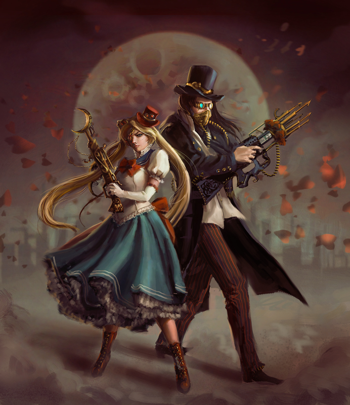 Steampunk Sailormoon by anotherwanderer