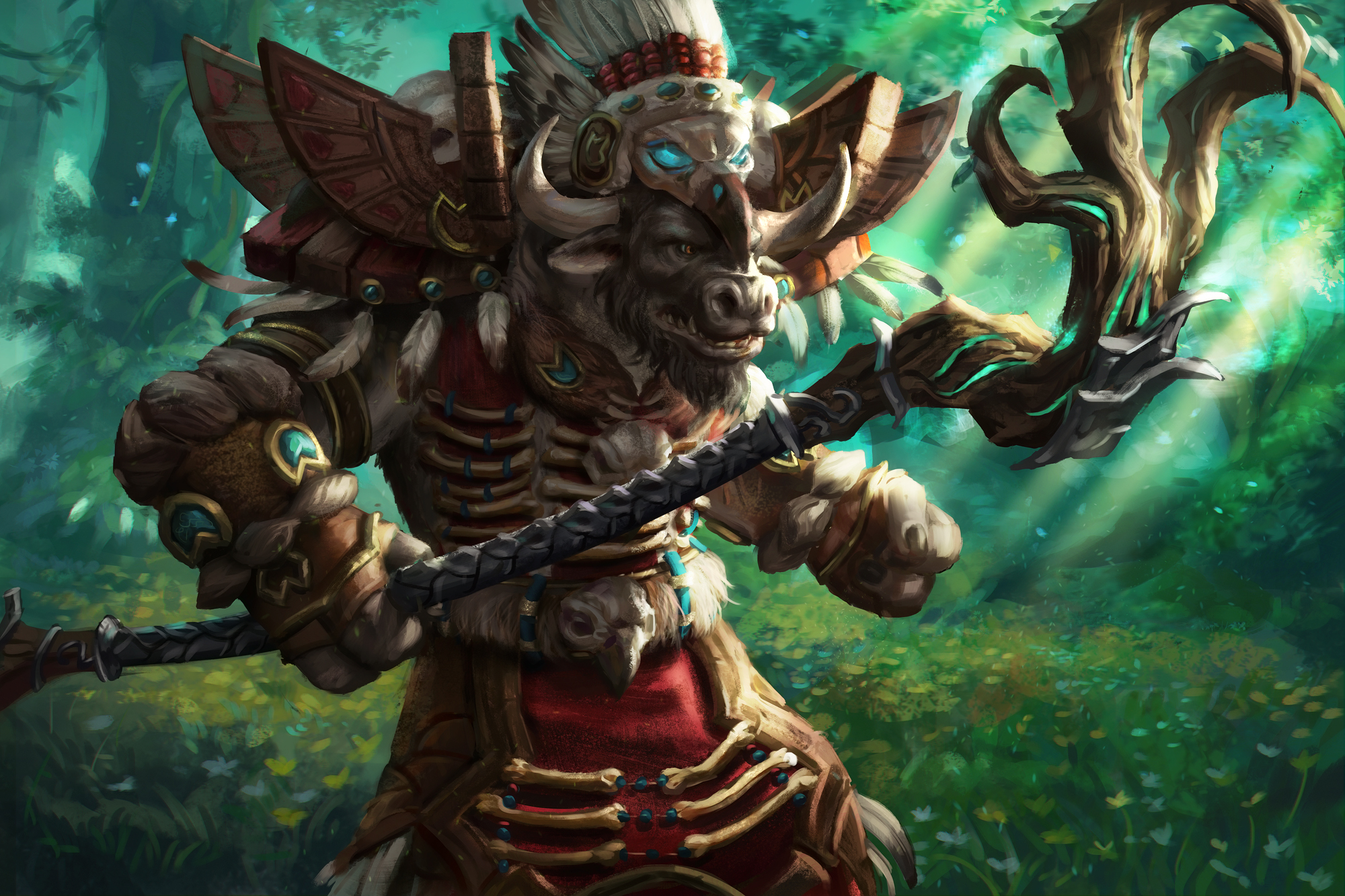 WoW Legion - Tauren Druid by anotherwanderer