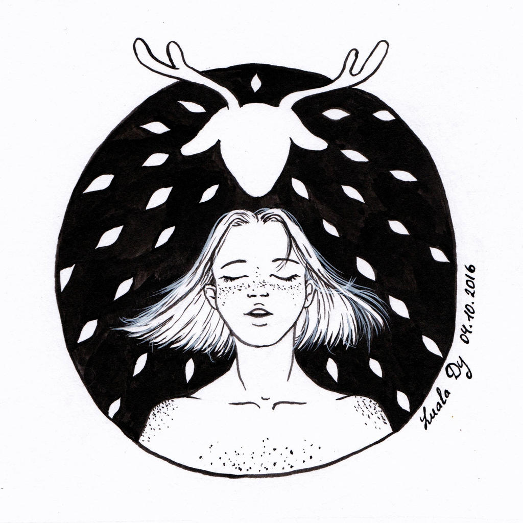 Inktober 04 Earth by LualaDy