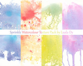 Spinkle Watercolour Texture Pack by LualaDy