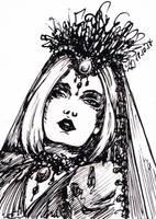 Inktober17 18 Bride by LualaDy