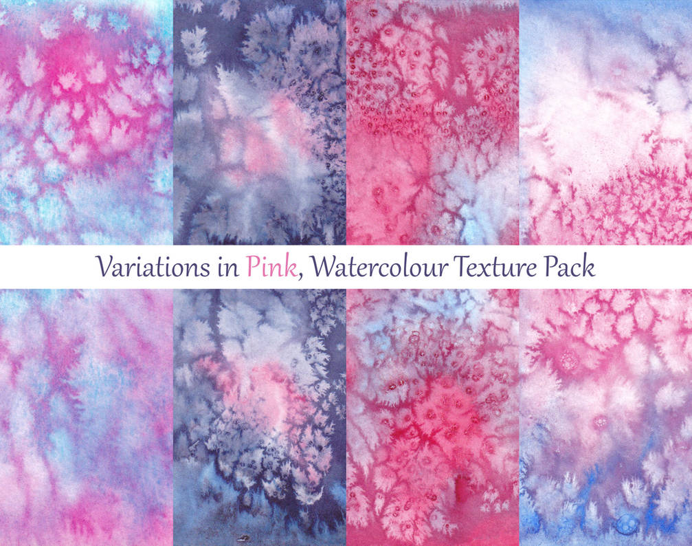 Variations in Pink, Watercolour Texture Pack