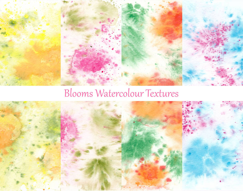 Blooms - Watercolour Texture Pack