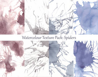 Spiders: Watercolour Textures by LualaDy