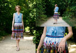 Summer skirt: Thrifted Upcycle