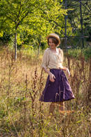 Thrifted Quick Fix: Purple Linnen Skirt by LualaDy