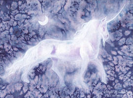 Inktober18 Day22 Clestial Unicorn (collab)
