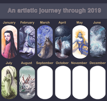 2019 Art July: omg omg second row started