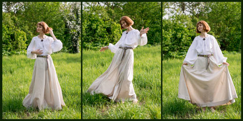 Medieval inspired Skirt from curtain by LualaDy