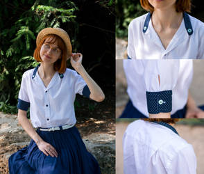 Mister's shirt to cute little blouse by LualaDy