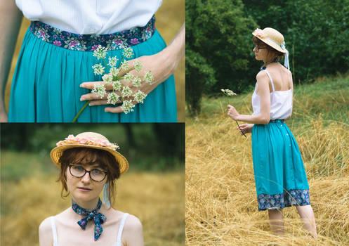 Turquoise Skirt Redux + Matching Tie