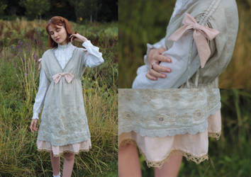 Pretty Pastel Dress Upcycle by LualaDy