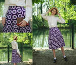 The Virus Skirt - garment renovation by LualaDy