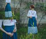 The Teal Skirt - garment renovation by LualaDy