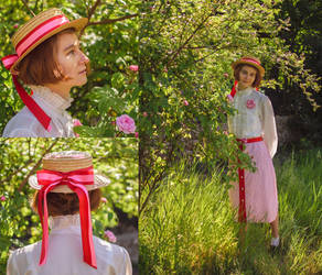 Red and Pink hat upcycle by LualaDy