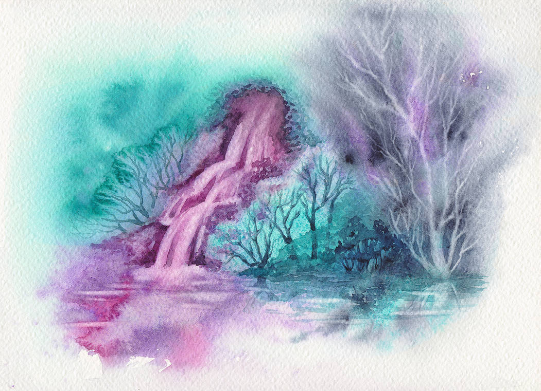 The Pink Waterfall
