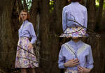 Lace Inset Blouse - Garment Renovation by LualaDy