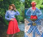 Blue Stripes - Garment Renovation by LualaDy