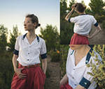 Short Sleeved Blouse - Garment Refashion by LualaDy