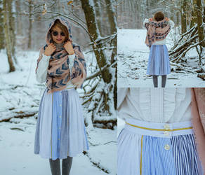 Blue and white skirt (new photos) by LualaDy