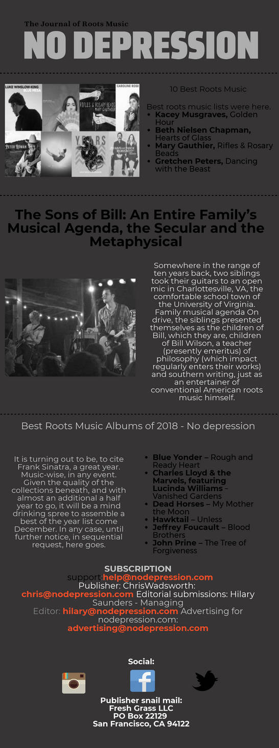 Best Roots Music Albums of 2018- No Depression by Nodepression on