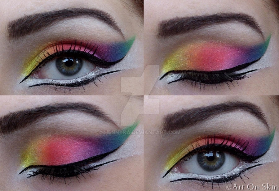 Rainbow make up by hennyka