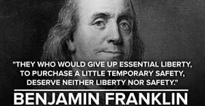 Ben Franklin, fight back internet surveillance