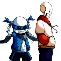 [Team Switched: UNDERSWAP] Sans and Papyrus [OLD] by iAbokai