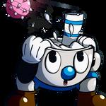 Mugman *Blue Cuphead* (in a nutshell)