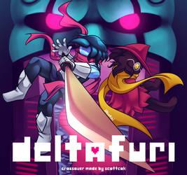 DELTAFURI (Deltarune x Furi) by iAbokai