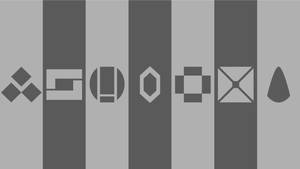 Minimalist Wallpaper - Silver Symbols Set