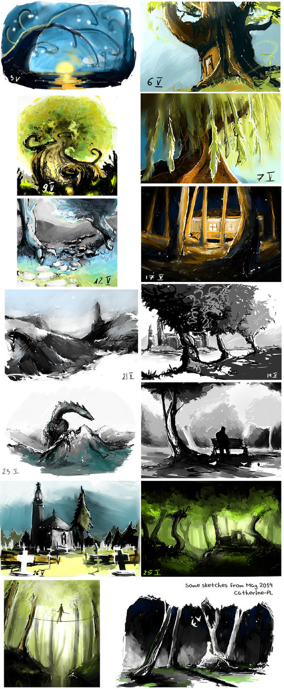 May 2014 sketches by Catherine-PL