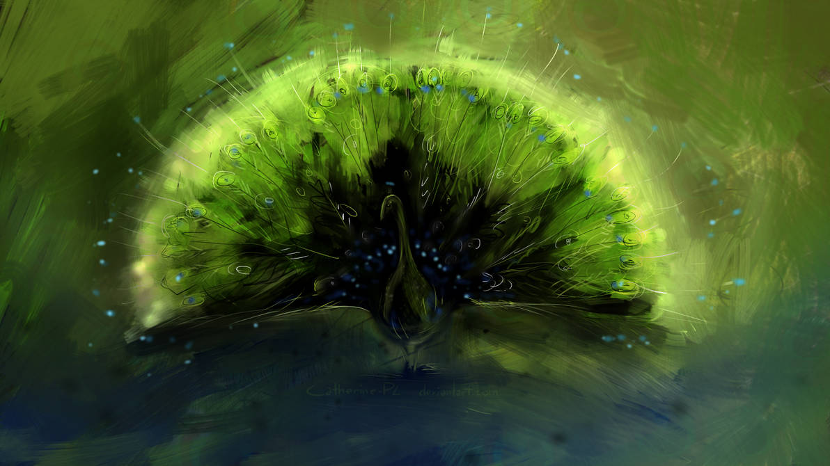 Peacock wallpaper by Catherine-PL