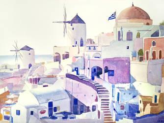 Santorini by Catherine-PL