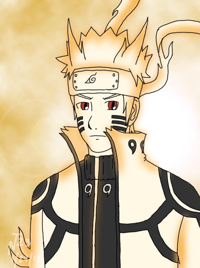 Naruto Uzumaki - Bijuu Mode (fanart) by NeroTekaimru23 on ...