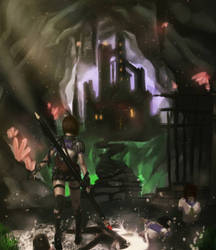 dungeon by p3ndra9on