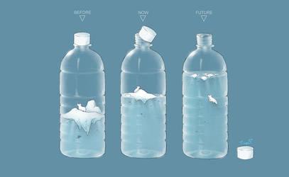 Bottle (global warming) by chiutina