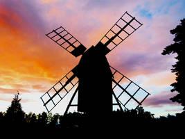 Windmill by Michawolf13