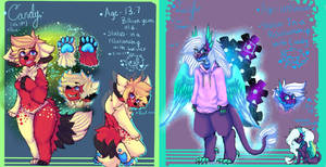Candy and Lucifer ref sheet by candykim0u0