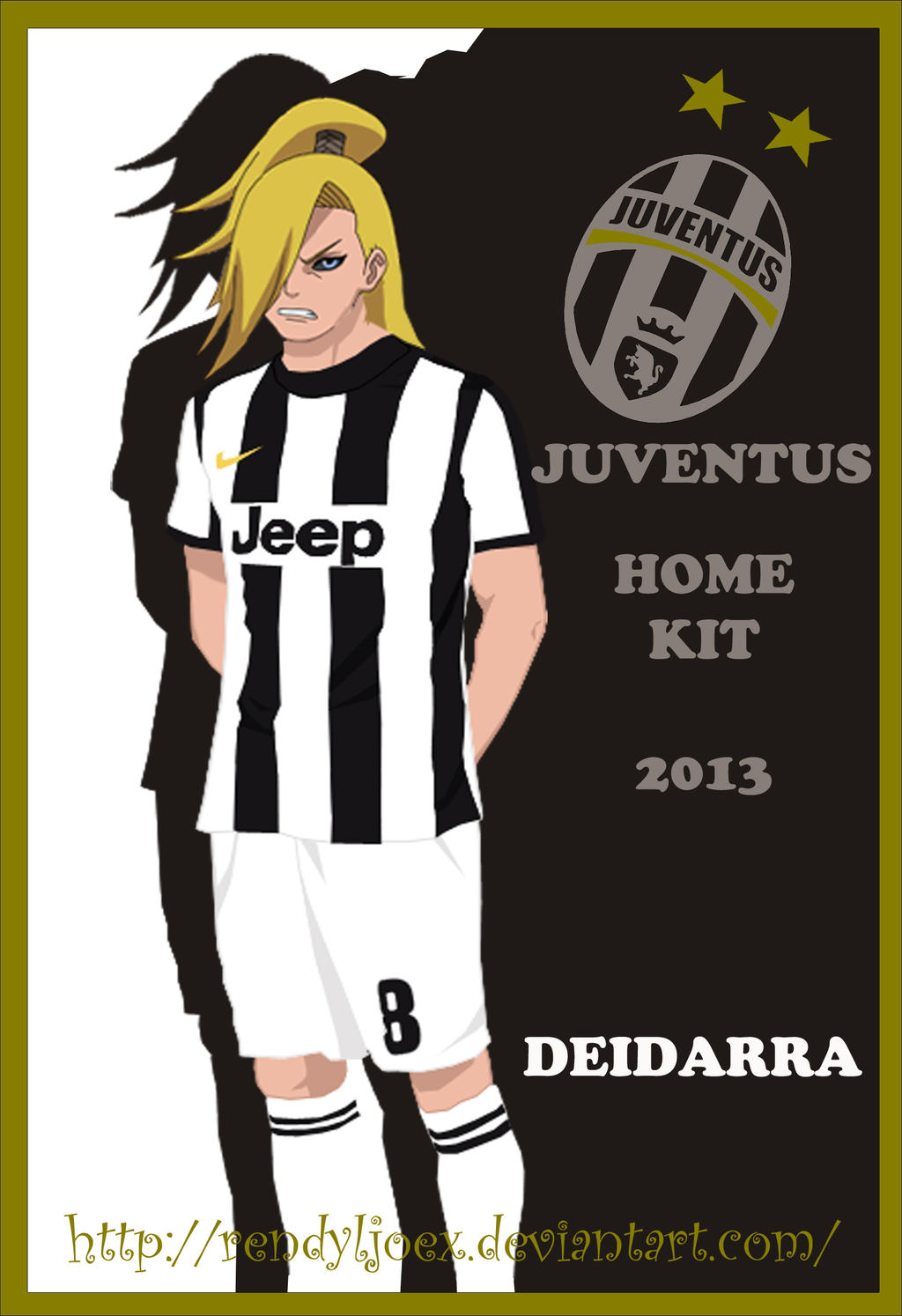 newest 94293 7c635 Deidarra Juventus Home Kit 2012 - 2013 by RendyLJoex on ...