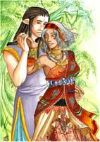 Weena Contest - Gwylym and Weena by Iksumi