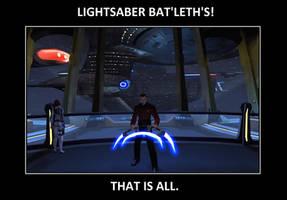 Lightsaber Bat'leth's