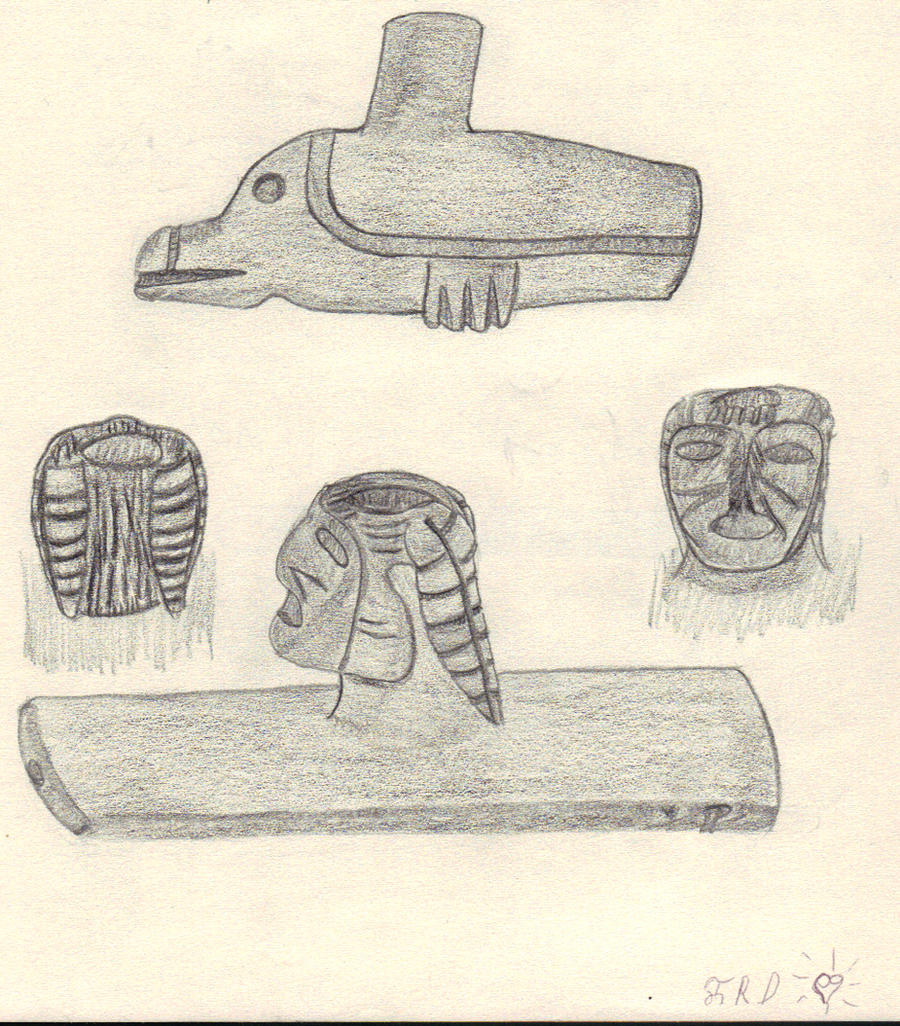 Mound Builder Stone Pipes by CherokeeGal1975