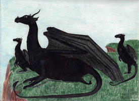 Great Black Dragon by CherokeeGal1975
