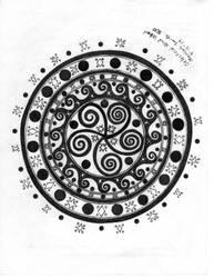 Celestial Wind Whorl by CherokeeGal1975