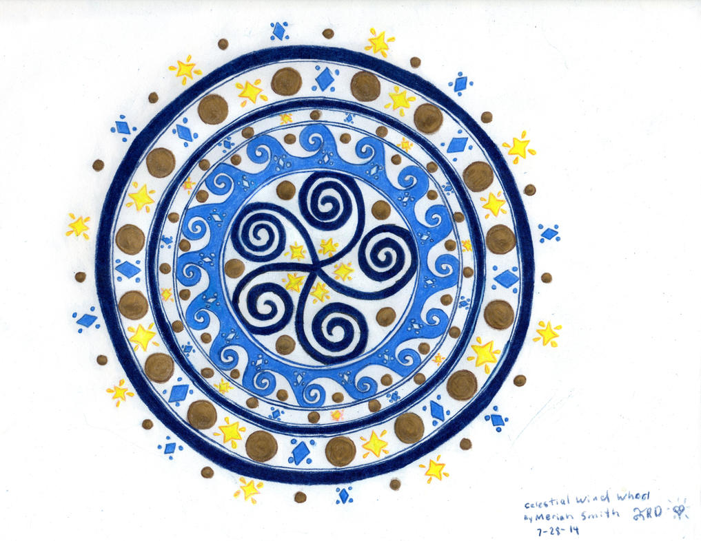 Celestial Wind Whorl In Color by CherokeeGal1975