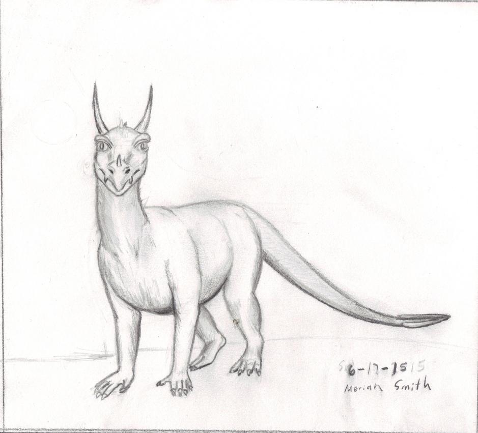 Half Turn Dragon Sketch by CherokeeGal1975